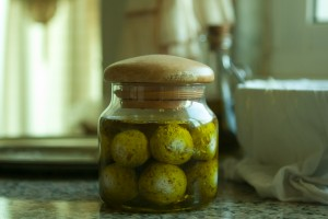Jar of labaneh balls