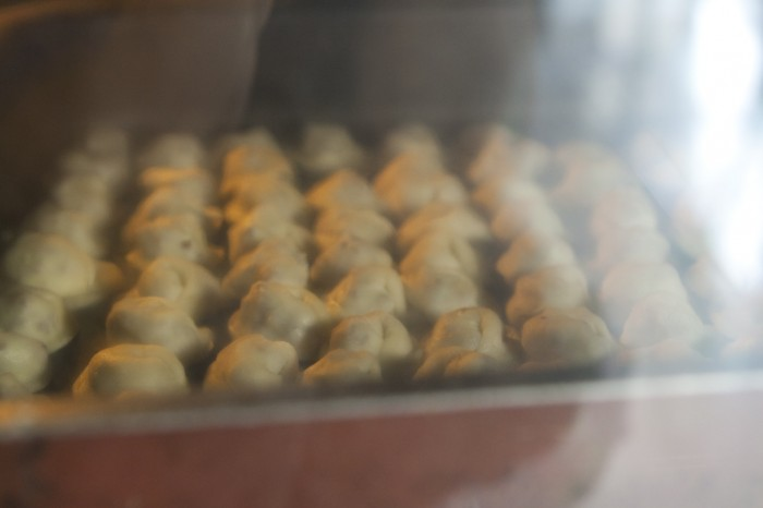 Shishbarak: baking dumplings
